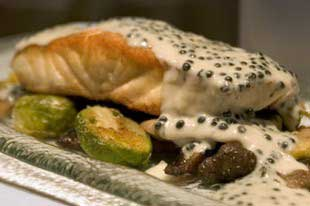 Seared White Sturgeon with Caviar Beurre Blanc